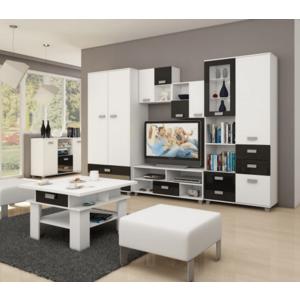 WIP Obývacia stena SOLO I Farba: Biela / čierny lesk vyobraziť