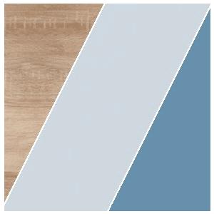 WIP Písací stolík KITTY 01 Farba: Dub sonoma svetlá / blankytná / modrá vyobraziť