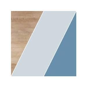 WIP Rohový písací stolík KITTY 02 Farba: Dub sonoma svetlá / blankytná / modrá vyobraziť