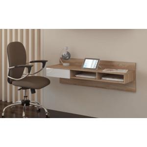 WIP PC stolík visiaci Uno sonoma / biely lesk Uno: pc stolík závesný vyobraziť