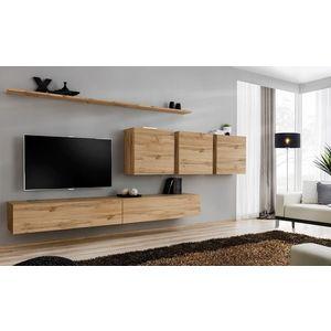 WIP Obývacia stena SWITCH VIII Farba: čierny mat / čierny lesk / dub votan vyobraziť