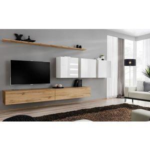 WIP-asm Obývacia stena SWITCH VII Farba: biely mat / biely lesk / dub votan vyobraziť