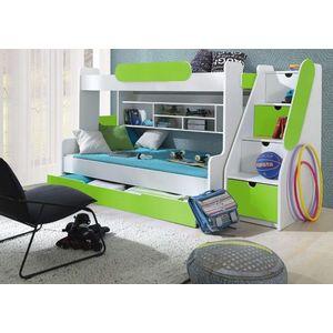 ArtBed Detská poschodová posteľ Segan Farba: Zelená vyobraziť