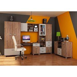 WIP Študentská izba SOLO II Farba: craft biely / craft tobaco vyobraziť