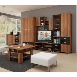 WIP Obývacia stena SOLO I Farba: Slivka / čierny lesk vyobraziť