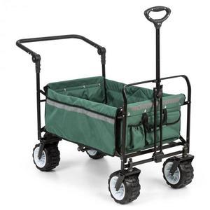 Waldbeck Easy Rider, ťahací vozík, do 70 kg, teleskopická tyč, sklopný, zelený vyobraziť