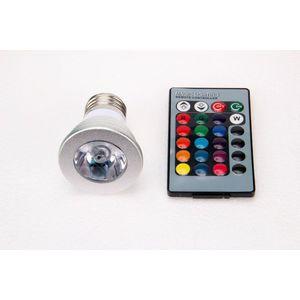 T-LED LED žiarovka RGB 3W E27 02103 vyobraziť