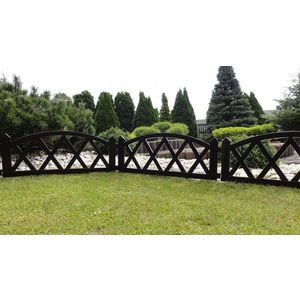 Záhradný plôtik 2, 3 m hnedá vyobraziť