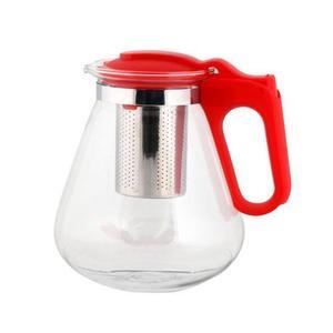 TORO Kanvica na čaj 1, 2 l s nerezovým sitkom, červená vyobraziť