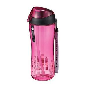 LOCK&LOCK Športová fľaša Lock 550 ml so silikónovou slamkou, ružová vyobraziť