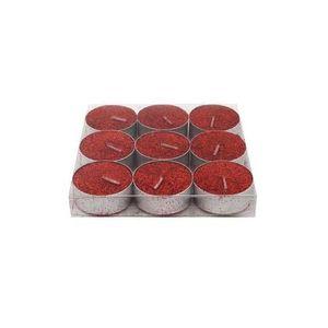 Provence Sviečka čajová, trblietavá, 9 ks, červená vyobraziť