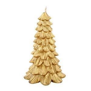 Provence Sviečka vianočný stromček, zlatá vyobraziť