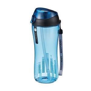 LOCK&LOCK Športová fľaša Lock 550 ml so silikónovou slamkou, modrá vyobraziť