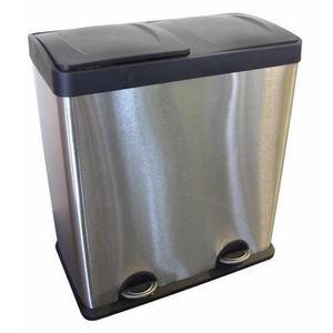 TORO Nerezový nášľapný kôš na triedený odpad TORO 60l - doprava zdarma vyobraziť