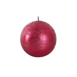Sviečka guľa červená 8cm vyobraziť