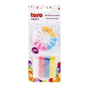 TORO Sviečky tortové 24 ks vyobraziť