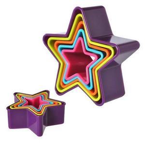 TORO Plastové vykajovače na cukrovinky, 5 ks, hviezdy vyobraziť