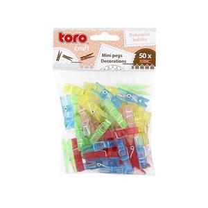 TORO Štipce plastové, 50 ks, assort farieb vyobraziť