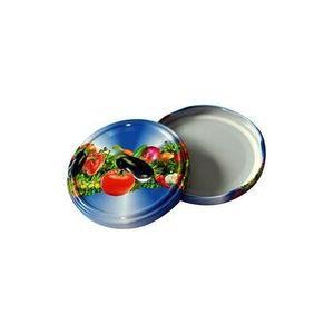 TORO Viečko na zaváracie poháre 10 ks, 82 mm, motív zelenina vyobraziť