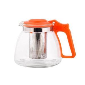 TORO Kanvica na čaj 0, 9 l s nerezovým sitkom, oranžová vyobraziť