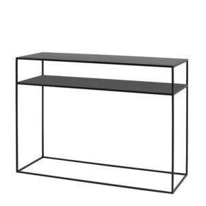 Čierny konzolový stolík Custom Form Tensio, dĺžka 100 cm vyobraziť