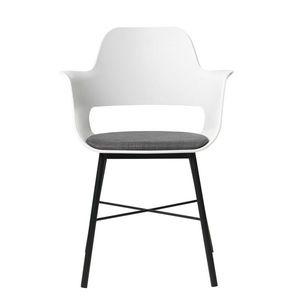 Biela jedálenská stolička Unique Furniture Wrestler vyobraziť