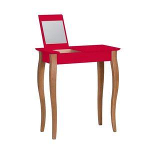 Červený toaletný stolík so zrkadlom Ragaba Lillo, šírka 65 cm vyobraziť