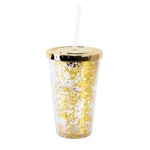 TORO Plastový pohár so slamkou TORO konfety 500ml vyobraziť