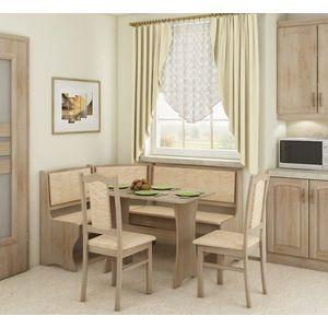 WIP Rohový set so stoličkami Prevedenie: Dub sonoma svetlá / Monaco / Stolička A vyobraziť