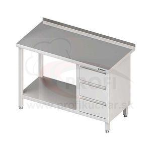 Pracovný stôl so zásuvkami - s otvorenou policou 1800x600x850mm vyobraziť