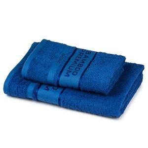 4Home Sada Bamboo Premium osuška a uterák modrá, 70 x 140 cm, 50 x 100 cm vyobraziť