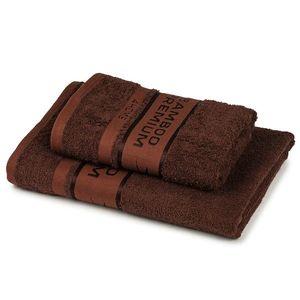 4Home Sada Bamboo Premium osuška a uterák tmavohnedá, 70 x 140 cm, 50 x 100 cm vyobraziť