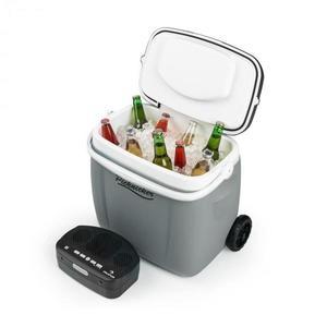 Auna Picknicker Trolley Music Cooler, chladiaci box, kufríkový, 36 l, BT reproduktor, šedý vyobraziť