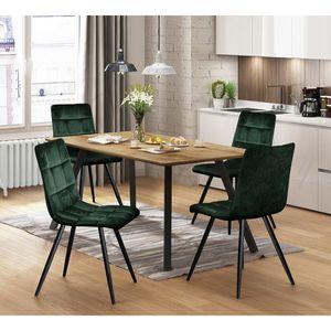 352a2e71b212 Jedálenská stolička BERGEN zelený zamat (34 kúskov) - DomovNabytek.sk