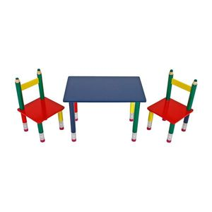 Detský set stôl + 2 stoličky PASTELKY vyobraziť