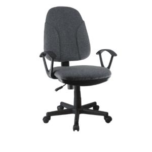 TEMPO KONDELA Kancelárska stolička, modrá látka, DEVRI vyobraziť