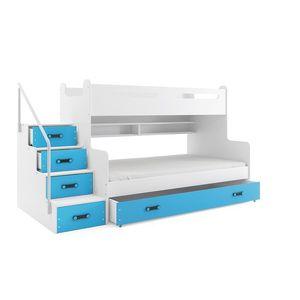 BMS Detská poschodová posteľ Max 3 Farba: Modrá vyobraziť