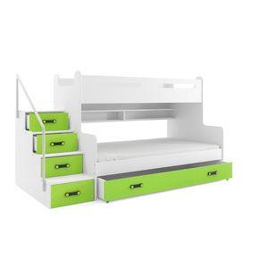 BMS Detská poschodová posteľ Max 3 Farba: Zelená vyobraziť