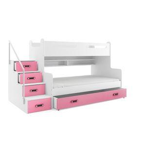 BMS Detská poschodová posteľ Max 3 Farba: Ružová vyobraziť
