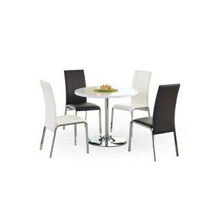 Okrúhly jedálenský stôl OMAR biela / chróm Halmar vyobraziť
