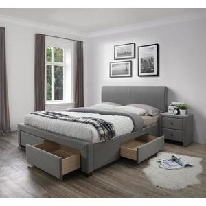 Posteľ MODENA s úložným priestorom sivá Halmar 140 x 200 cm vyobraziť