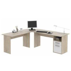 Rohový písací stôl Maurus NEW MA11 dub sonoma / biela vyobraziť