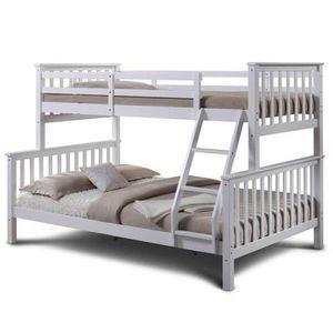 Poschodová rozložiteľná posteľ BAGIRA biela Tempo Kondela vyobraziť