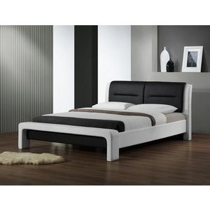 Posteľ CASSANDRA biela / čierna Halmar 160 x 200 cm vyobraziť