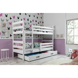 BMS Detská poschodová posteľ ERYK | BIELA Farba: Biela / biela, Rozmer, materiál: 160 x 80 cm vyobraziť