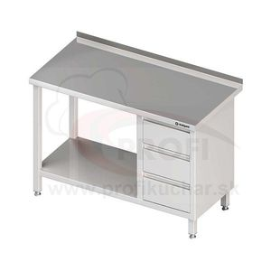 Pracovný stôl so zásuvkami - s policou 1400x700x850mm vyobraziť