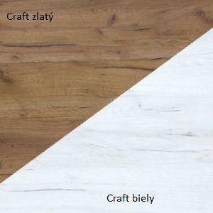 WIP TV STOLÍK REX Farba: Craft zlatý / craft biely vyobraziť