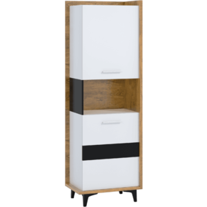 WIP Regál 2D BOX-07 Farba: dub burgun / biela / čierna vyobraziť