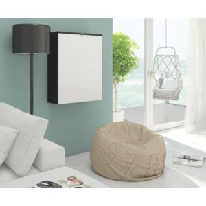 WIP PC stolík Hide / lesklý Farba: čierna / biely lesk vyobraziť