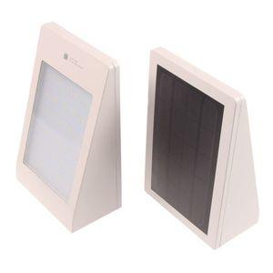T-LED Solárne fasádne svietidlo s pohybovým čidlom biele Farba svetla: Teplá biela vyobraziť